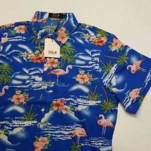 NWT SSLR Hawaiian Shirt - Men's Small
